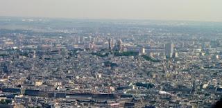París desde lo más alto de la Torre Eiffel.