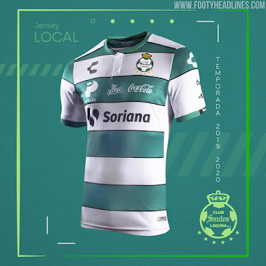 new styles 51c60 b13de Santos Laguna 19-20 Home & Away Kits Released - Footy Headlines