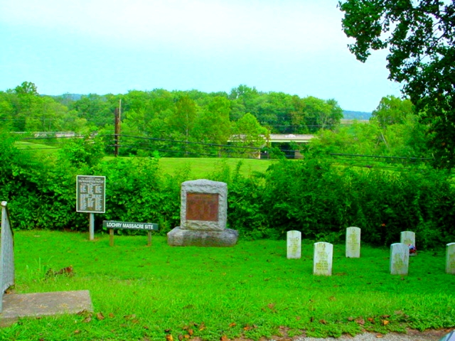 Lochry Massacre Site - Riverview Cemetery - Aurora Indiana