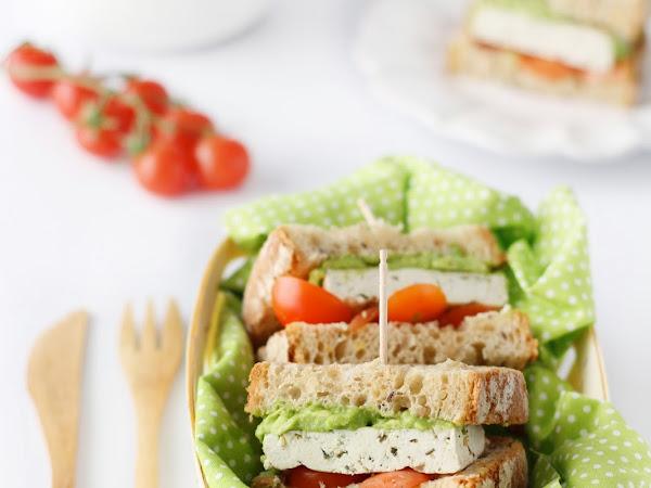 Tofu Burger con avocado