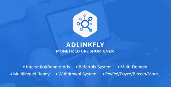 تحميل سكربت  AdLinkFly v5.3.0 المدفوع للربح من اختصار الروابط مجاناً