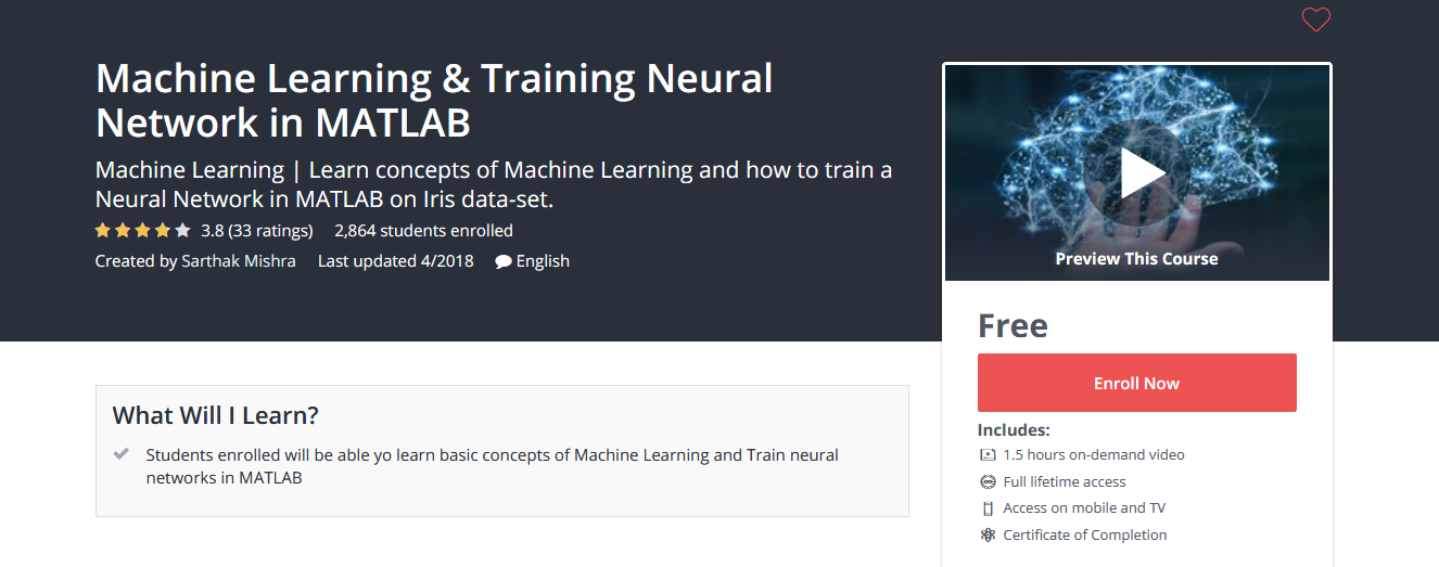 Machine Learning & Training Neural Network in MATLAB ~ Free