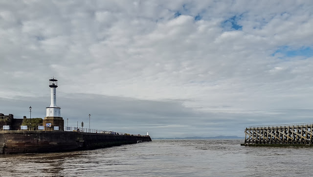 Photo of leaving Maryport basin and heading out into the Solway Firth