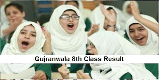 Gujranwala 8th Class Result 2018 - BISE Gujranwala Board PEC Results Announced Today
