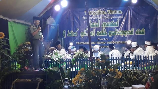 Satgas TMMD Kodim Jepara dan Warga Dudakawu Hadiri Pengajian Isra' Mi'raj