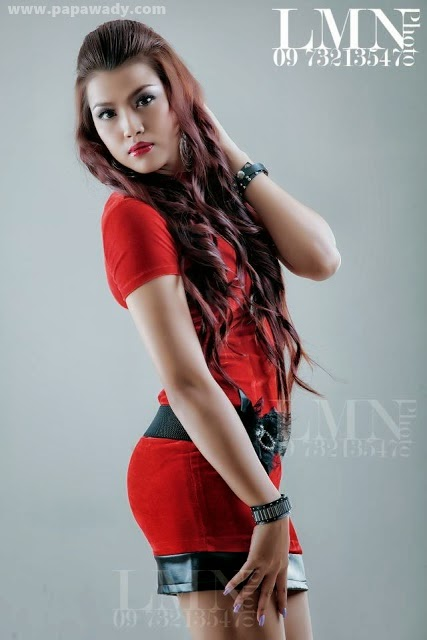 Myanmar Actress Ei Chaw Po - Red is Gorgeous