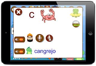 juego app palabras niños aprender a leer grabar