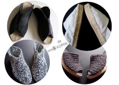 Cómo hacer Alpargatas de verano de cuero, crochet y loneta
