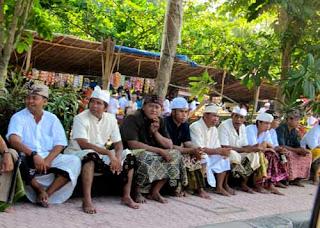 Men Temple Event Bali Indonesia
