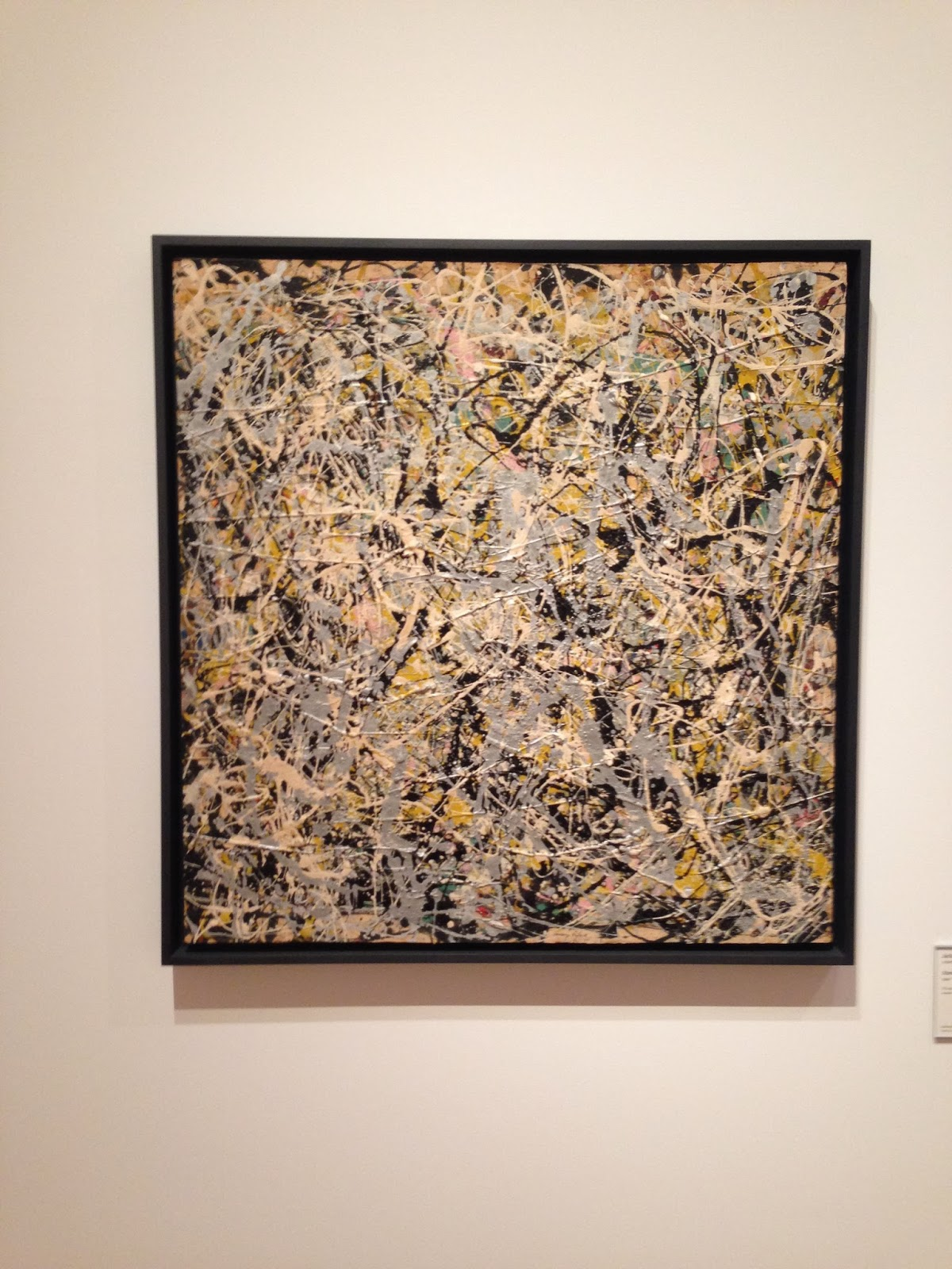 the museum experience fall 2013 photo essay 1 yale art gallery jackson pollock number 4 1949