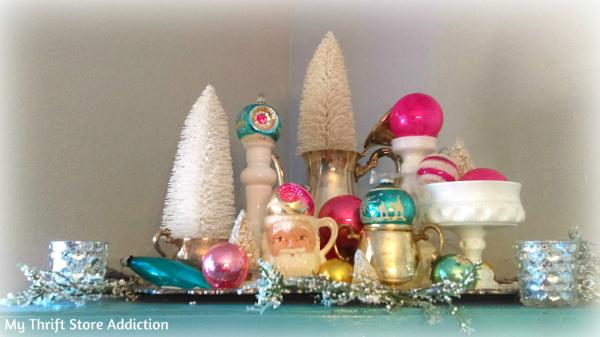 Vintage ornament vignette
