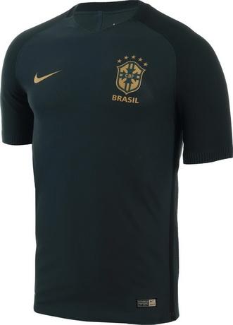 La Camiseta Brasil baratas 2018 cuenta con el modelo estándar de Nike para  sus selecciones y palos superiores y aporta el color predominantemente  verde ... 65ea9897f2054