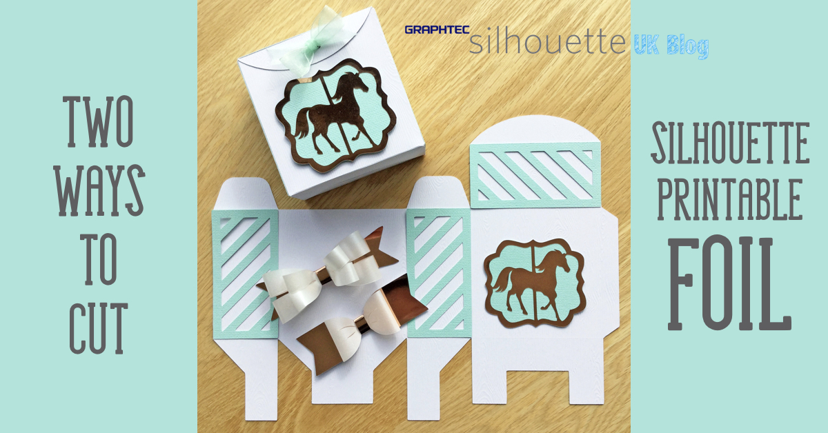 image about Silhouette Printable Gold Foil known as Silhouette British isles: Containers and Bows - 2 slice strategies for