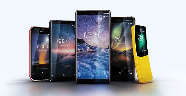 Nokia mengeluarkan 5 hape baru di MWC 2018