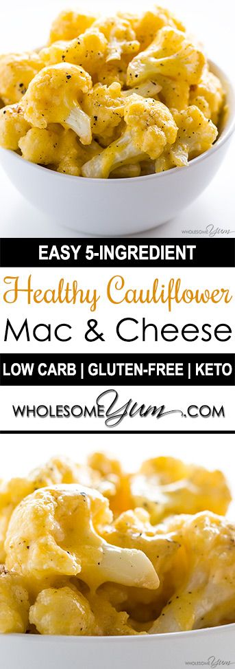 Low Carb Cauliflower Mac and Cheese Recipes with Keto Cheese Sauce #lowcarb #cauliflower #mac #cheese #maincourse #dinner