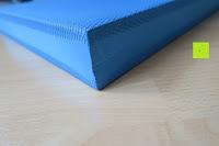 Ecke: High Pulse Balance Pad – Die gelenkschonende Koordinationsmatte zum Training von Gleichgewicht und Stabilität sowie zur Therapie nach Muskelverletzungen (Blau)