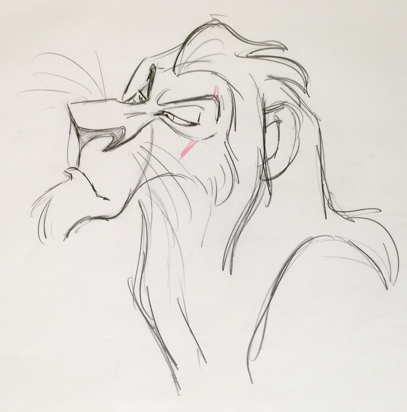 Animation Collection Original Production Animation Drawing Of Scar From U0026quot;The Lion Kingu0026quot; 1994