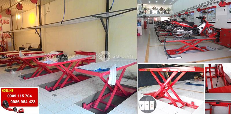 Giá bàn nâng thủy lực sửa xe Honda, bàn nâng xe máy các loại