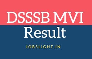 DSSSB MVI Result 2017