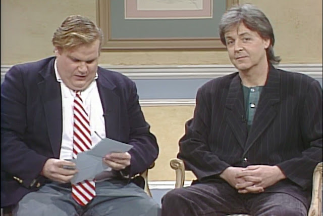 paul on the run that time chris farley interviewed paul mccartney on saturday night live. Black Bedroom Furniture Sets. Home Design Ideas
