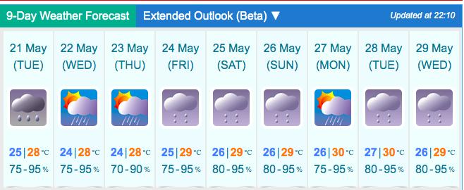Prakiraan Cuaca: Hujan Kuning dan Badai Petir Tengah Berlaku di Hong Kong