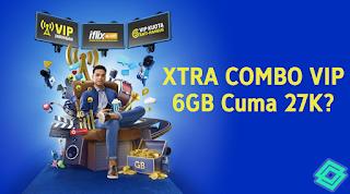 Trik Tembak Paket XL Xtra Combo VIP 6GB - 27K (Diskon 30%)