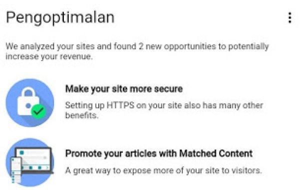 Iklan Konten Sesuai Matched Content Adsense
