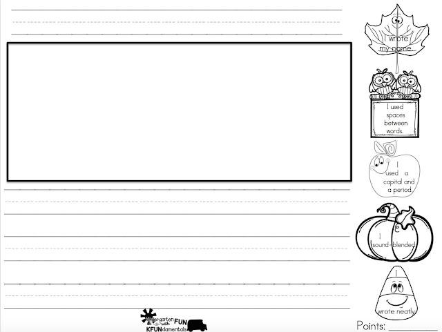 kfundamentals daily journal writing in kindergarten