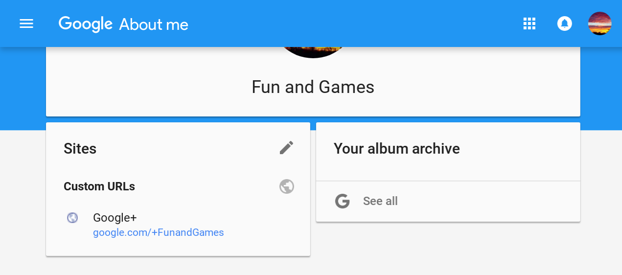 Add or change a Google+ Custom URL