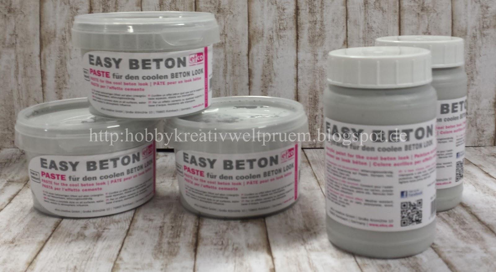 Hobby Kreativ Welt: Easy Beton Farbe und Paste