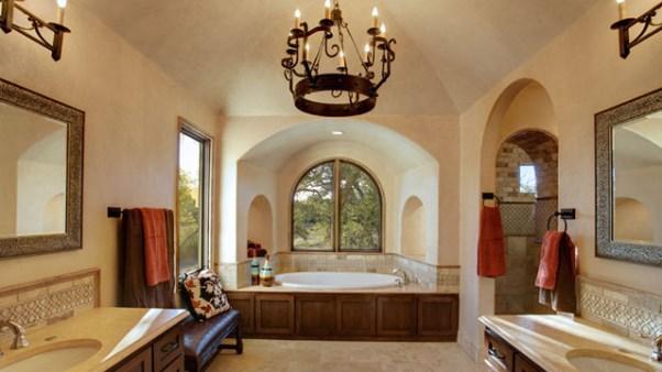 Spanish mediterranean homes interior design art home for Hacienda style lighting