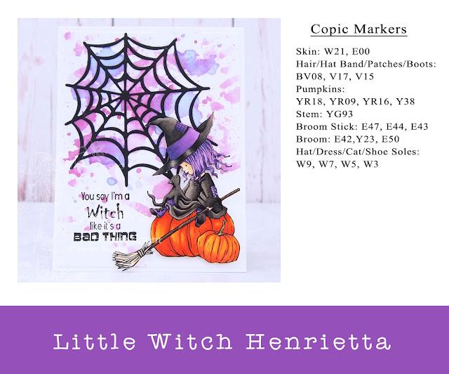 Heather's Hobbie Haven - Little Witch Henrietta Card