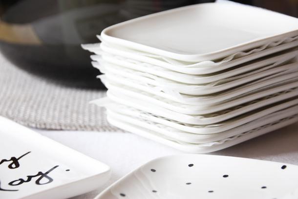 binedoro Blog, DIY, kleine Porzellanteller bemalen, Handlettering, Muster