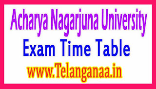 ANU M.Tech 2nd Sem R15 (Evening Course) Exam Time Table Jan 2017