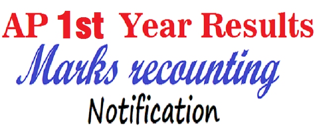 AP D.Ed 1st year 2015,results,marks recounting 2016