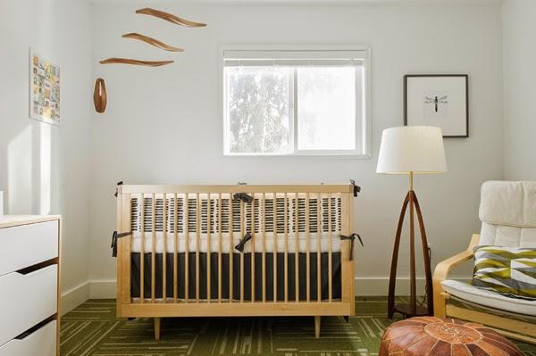 cuarto de bebé colores naturales