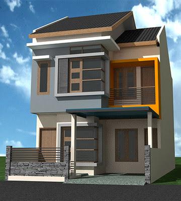 desain rumah minimalis 2 lantai ukuran panjang 12 lebar 6 meter