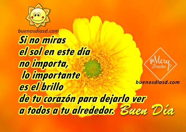 Frases cortas de buenos días, mensajes positivos con imágenes para compartir por Facebook, twitter, whatsap por Mery Bracho.