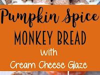 Pumpkin Spice Monkey Bread with Cream Cheese Glaze Recipe