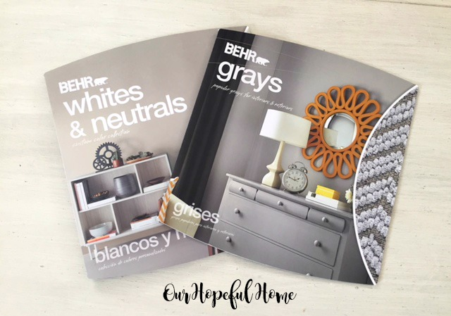 Behr paint chip sample books