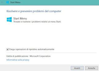 correzione automatica windows 10
