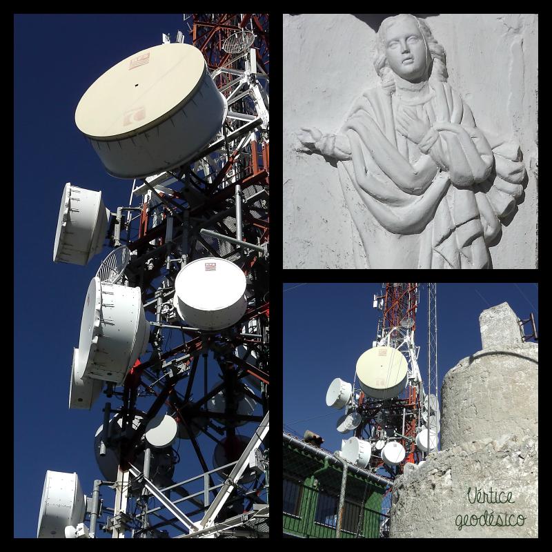 El Montduver. Vértice geodésico y antenas