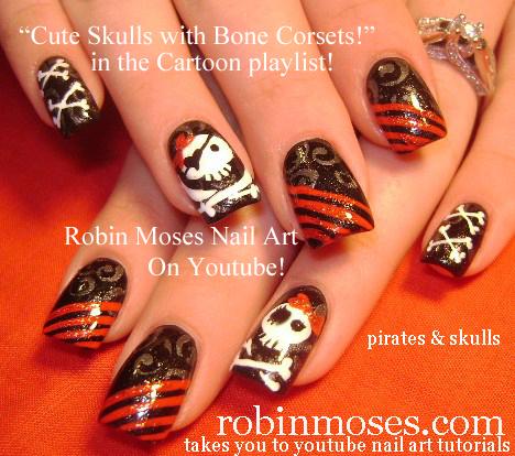 Nail Art by Robin Moses: Halloween Nails! | Ephemera Nail ...