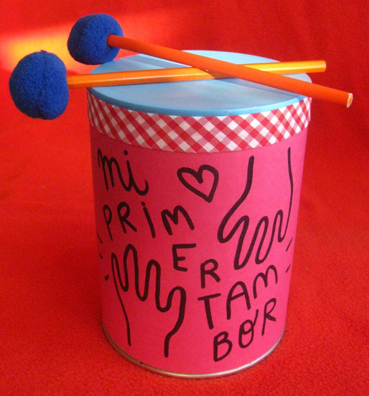 Haz un tambor infantil reciclando lata de leche en polvo ~ Solountip.com