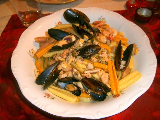 tengergyümölcsei pasta