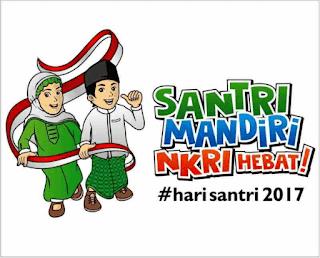 Logo Dan Ucapan Selamat hari santri nasional 2017