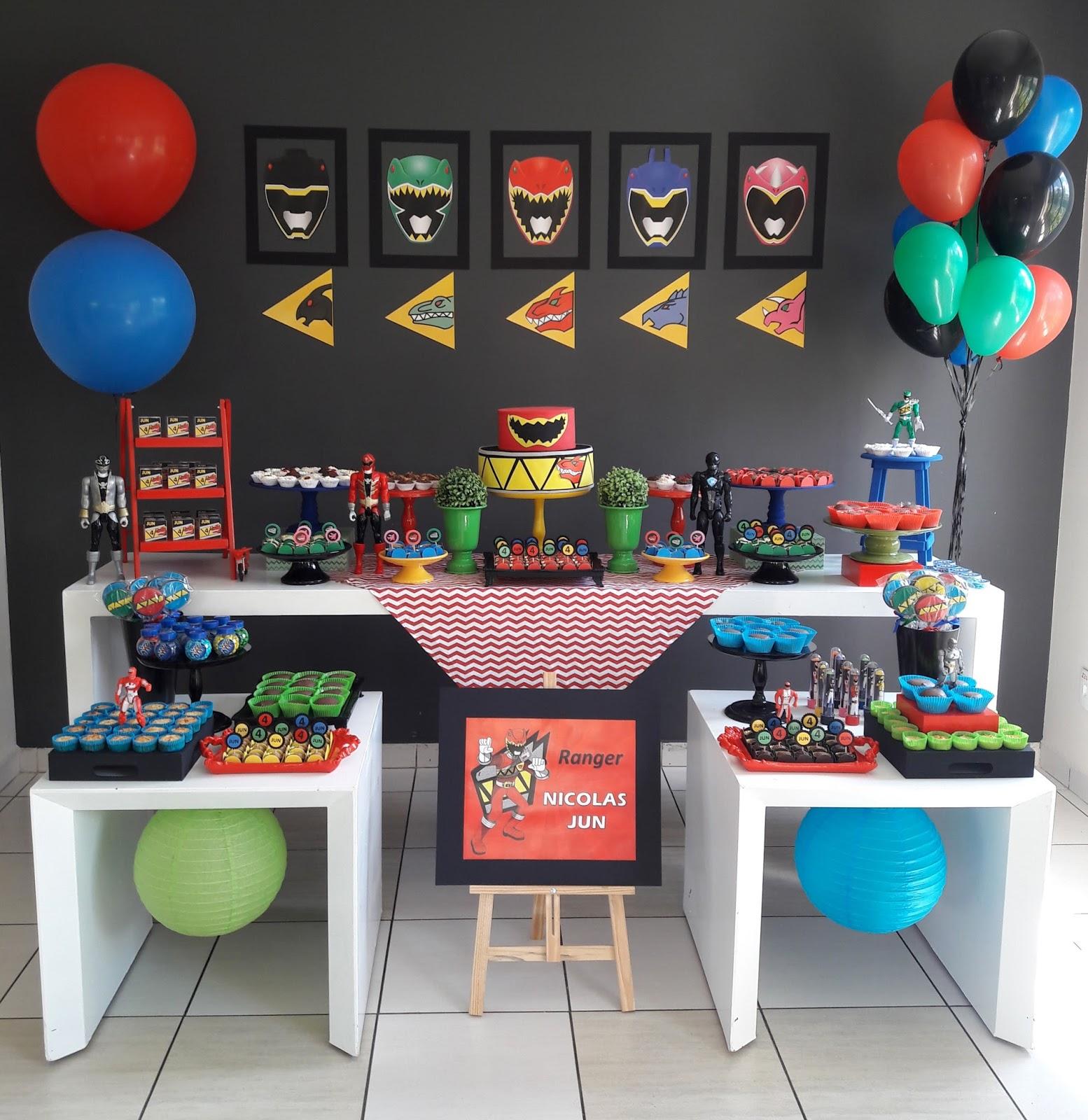 Atelier Dani Simões: Festa Power Ranger - Dino Charge