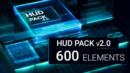 حصرياً ٦٠٠ عنصر متحرك بتقنية HUD للافتر افكت CS6 فأعلى