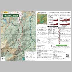 Mapa de rutas recomendadas del sector La Acebeda-Valsain