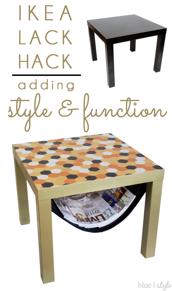 Ikea Lack Hack Hexagon Tabletop Magazine Sling